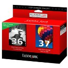 Lexmark #36/ #37 Black and Color Ink Cartridge Combo