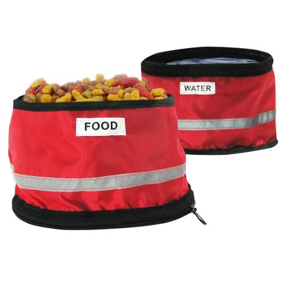 Fold 2 Go Travel Pet Bowls - Red