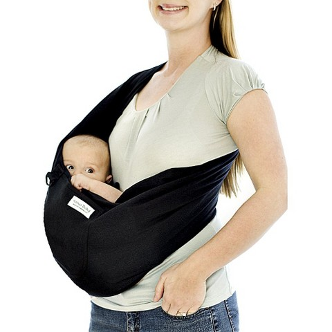 Karma Baby Organic Cotton Stretch Baby Sling Carrier - Black