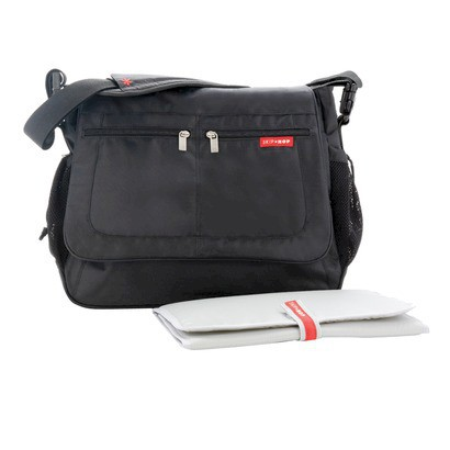 Skip Hop Via Tech Messenger Diaper Bag Black