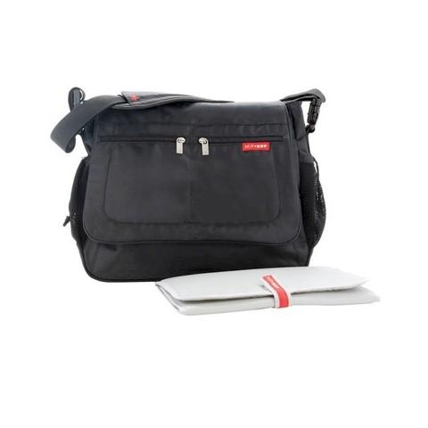 Skip Hop Via Tech Messenger Diaper Bag Black
