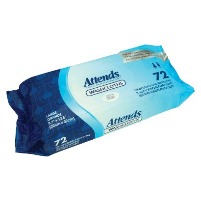 Attends® Disposable Scented Washcloths - 48 Count