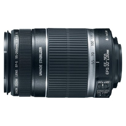 Canon EF-S 55-250-mm f/4.0-5.6 IS Telephoto Zoom Lens for Canon Digital SLR Cameras - Black