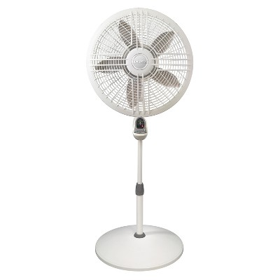 "Lasko 3-Speed 18"" Elegance and Performance Pedestal Fan with Remote - White"