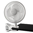 "Lasko 2-Speed 6"" Clip Fan - White"