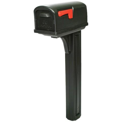 Rubbermaid - Mailbox & Post Combo w/Rear Door