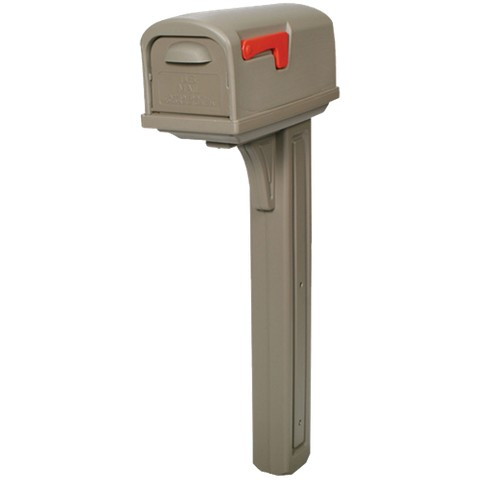 Rubbermaid - Mailbox & Post Combo w/Rear Door