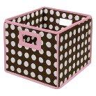Badger Basket Pink Basket Brown Polka Dot
