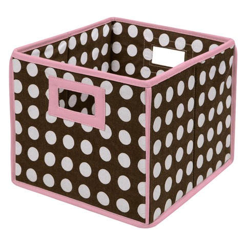 Badger Basket Pink Basket Brown Polka Dot