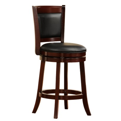 """Piacenza Upholstered Counterstool - Cherry (24"""")"""