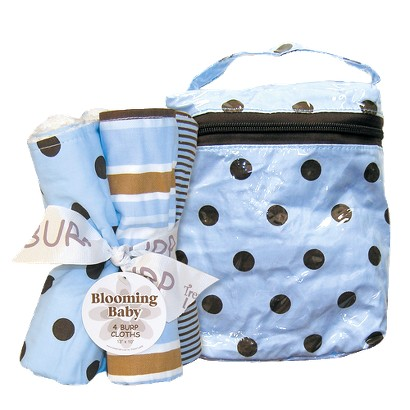 Trend Lab 5 Pc. Burp Cloths and Bottle Bag Set - Max