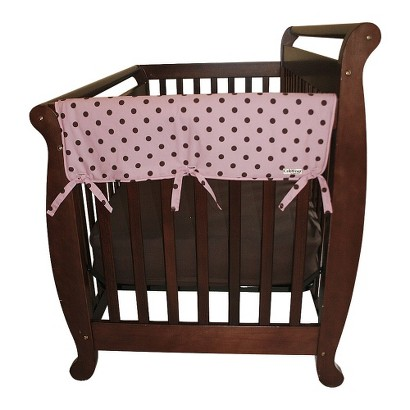 "Set of Two Maya Dot 27"" Side Rail Cover for Convertible Cribs- Pink"