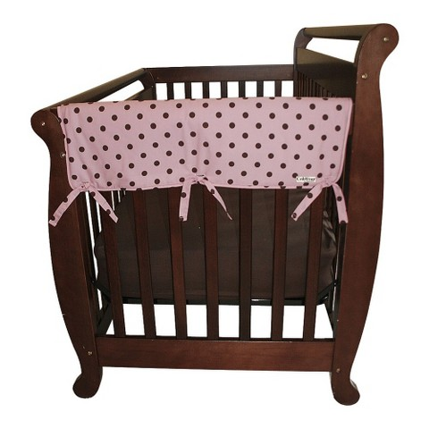 "Trend Lab Set of Two Maya Dot 27"" Side Rail Cover for Convertible Cribs- Pink"