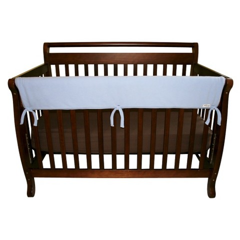 Trend Lab Fleece Front Rail Cover for Convertible Cribs - Blue
