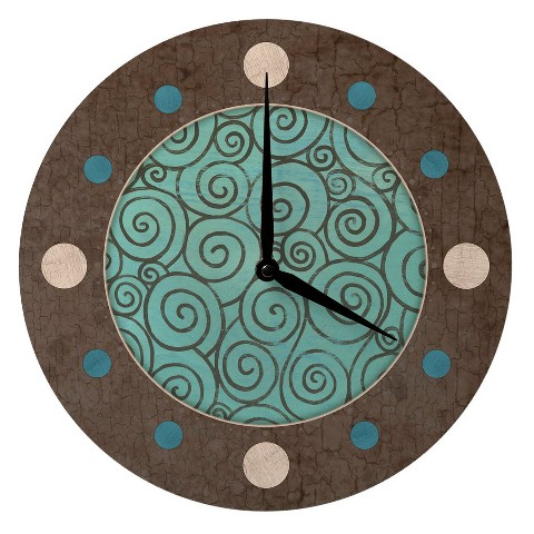 "Vintage Wood Clock - 12"""