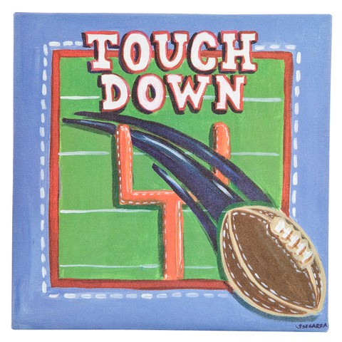 Oopsy Daisy too Sports Football Wall Art - 10x10""