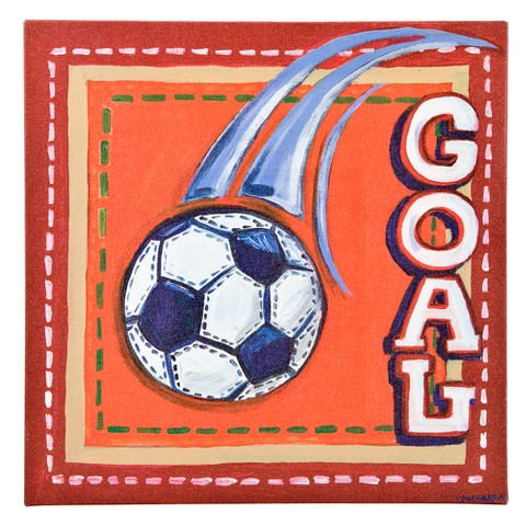 Oopsy Daisy too Sports Soccer Wall Art - 10x10""