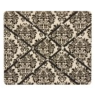 Damask Floral French Memo Board - Black/Cream
