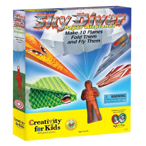 Creativity for Kids Sky Diver Paper Airplanes Kit