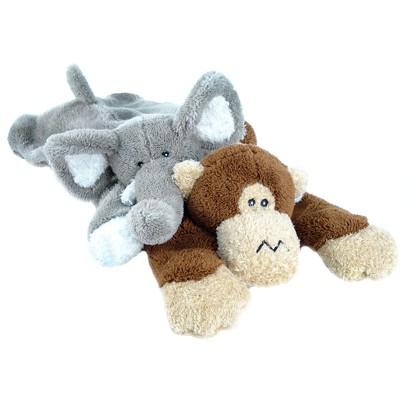 Boots and Barkley® Large Floppy Plush Assorted Dog Toys - Elephant/Monkey