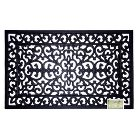 Decorative Black Rubber Door mat - Smith & Hawken™