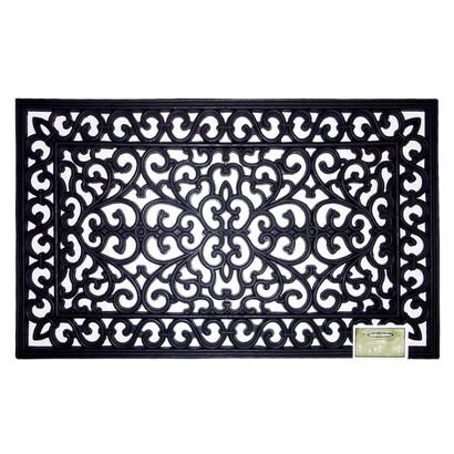 Smith & Hawken® Decorative Black Rubber Door mat