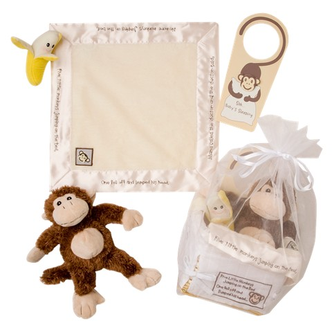 "Baby Aspen""Five Little Monkeys"" Five-Piece Gift Set - 0-6 months"