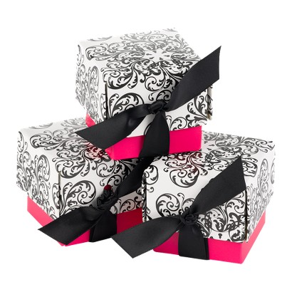 Fuchsia Filigree Favor Boxes - 25ct
