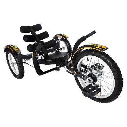 "Mobo Mobito (Youth) –  The Ultimate Three Wheeled Cruiser (16"") Black"