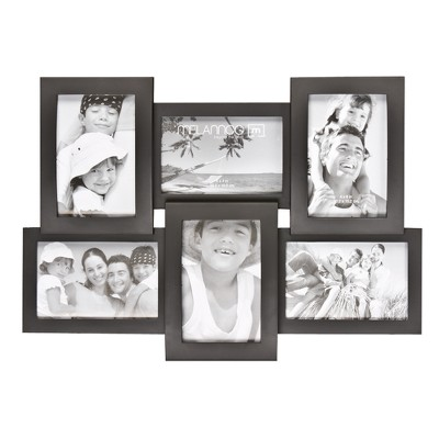 "6-Opening 4""x6"" Frame - Black"
