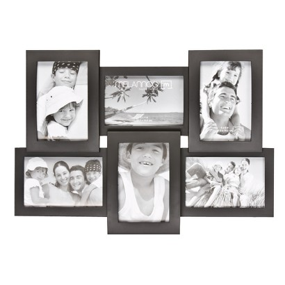 6-Opening Picture Frame - Black 4x6