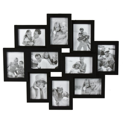 10-Opening Collage Picture Frame - Black 4x6
