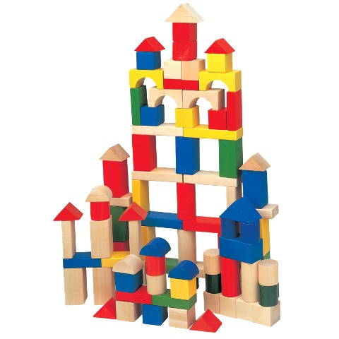 Maxim Color/Natural Building Blocks 100 Piece Set