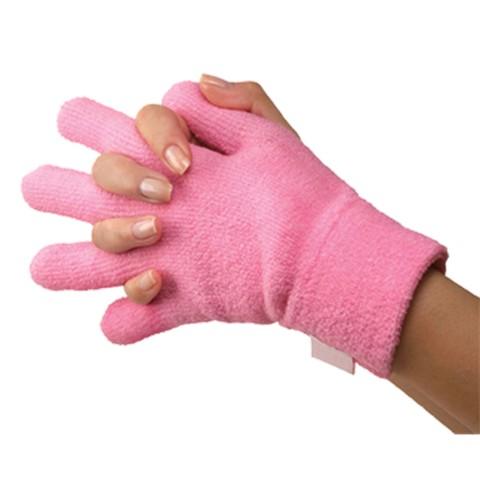 Silipos Plush Terry Gel Moisturizing Gloves - Pink