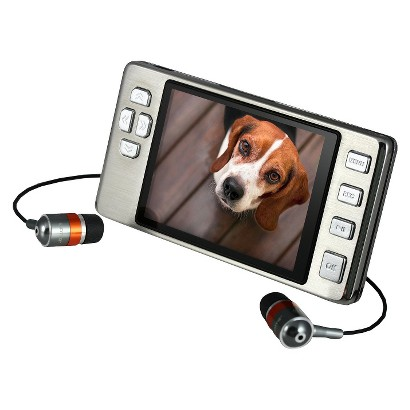 Latte Ice 16GB Flash MP3 Player (LP-ICE16GBSLV) with Video Playback, Built-in FM Transmitter - Silver