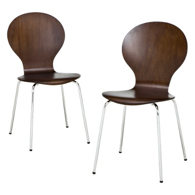 Porter Modern Stacking Chair Espresso - Set of 2
