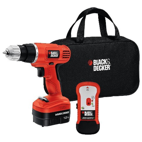 Black & Decker 12V Drill with Stud Finder