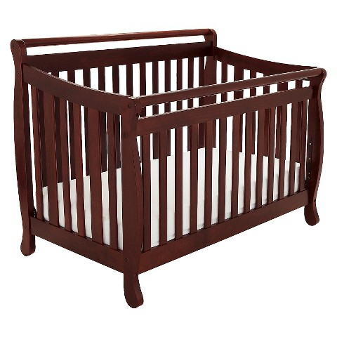 Mikaila Amy 3-in-1 Convertible Crib with Toddler Rail - Cherry