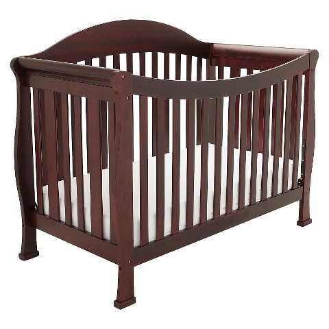 Mikaila Allie 3-in-1 Convertible Crib with Toddler Rail - Cherry