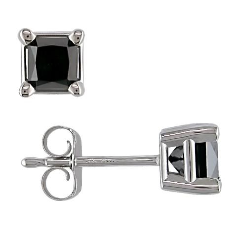 Allura  Diamond Solitaire Earrings - Black
