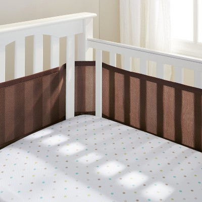 Breathable Baby® Solid Mesh Crib Liner - Brown