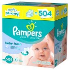 Pampers Baby Fresh Baby Wipes Refill Pack - 504 Count