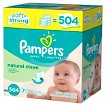 Pampers Natural Clean Baby Wipes Refills - 504 Count
