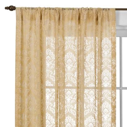 Beaumont Medallion Rod Pocket Curtain Panel
