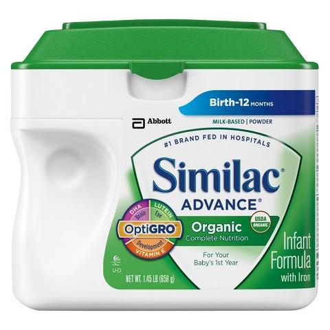 Similac® Advance Organic Powder - 1.45lb (6 pack)