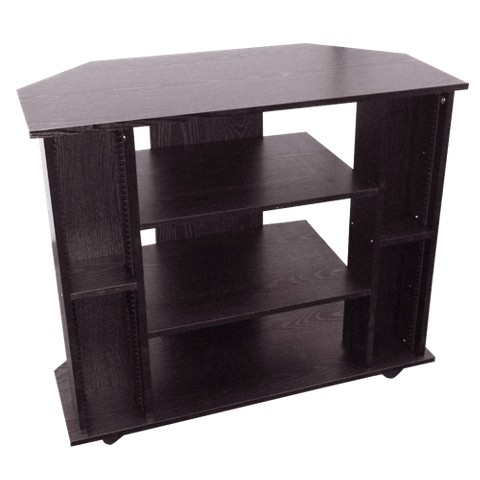 Ore International Entertainment TV Stand with Wheels - Black