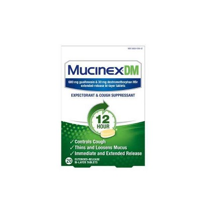 Mucinex® Expectorant and Cough Suppresant Tablets - 20 Count