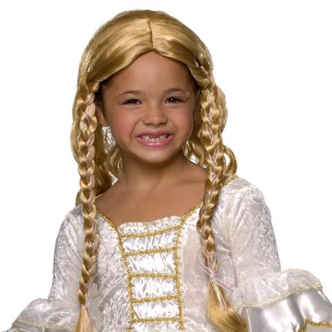 Girl's Blonde Princess Wig Child