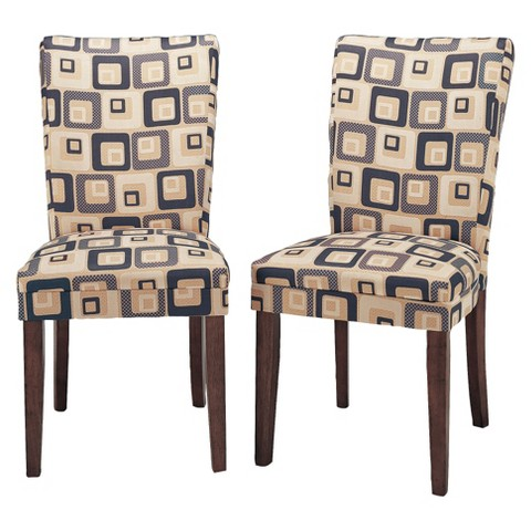 Ella Upholstered Fabric Dining Chair (Set of 2)