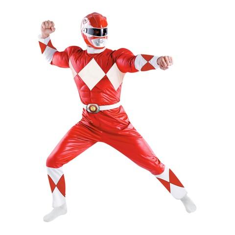Men's Power Rangers Red Ranger Classic Costume - X-Large